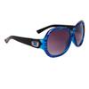 Stylish Fashion Sunglasses Wholesale DE85 Black & Transparent Blue Frame