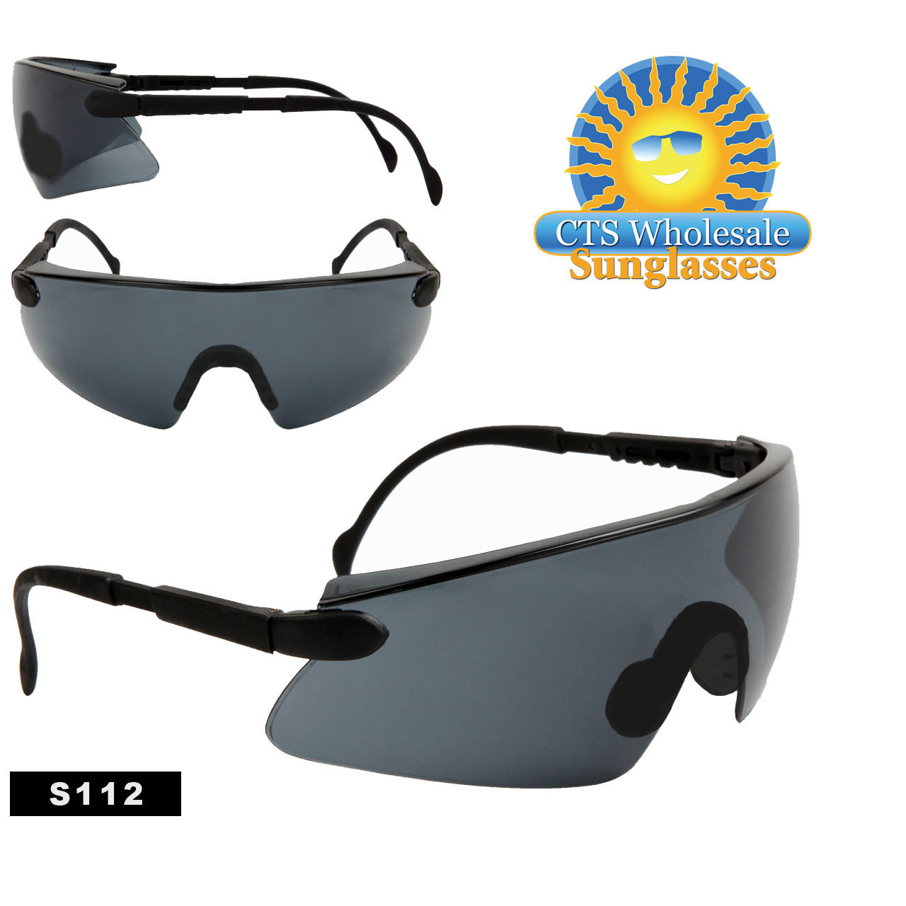 Tinted Safety Glasses with Adjustable Arms