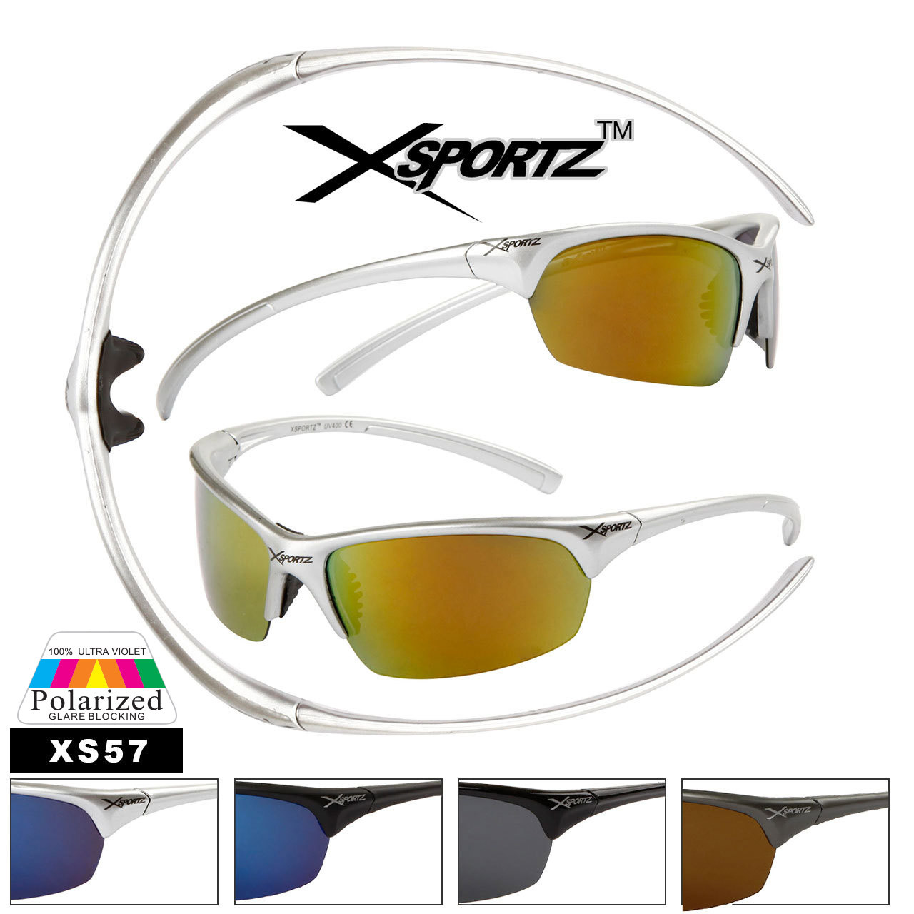 Xsportz™ Polarized Sunglasses by the Dozen - Style XS57
