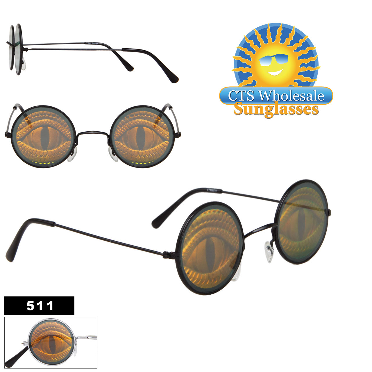 Reptile Eye Hologram Sunglasses 511