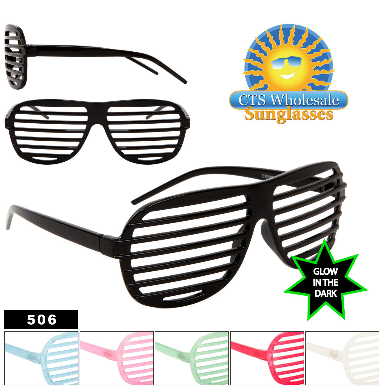 Shutter Shades 506 1 Doz Glow In The Dark Frames