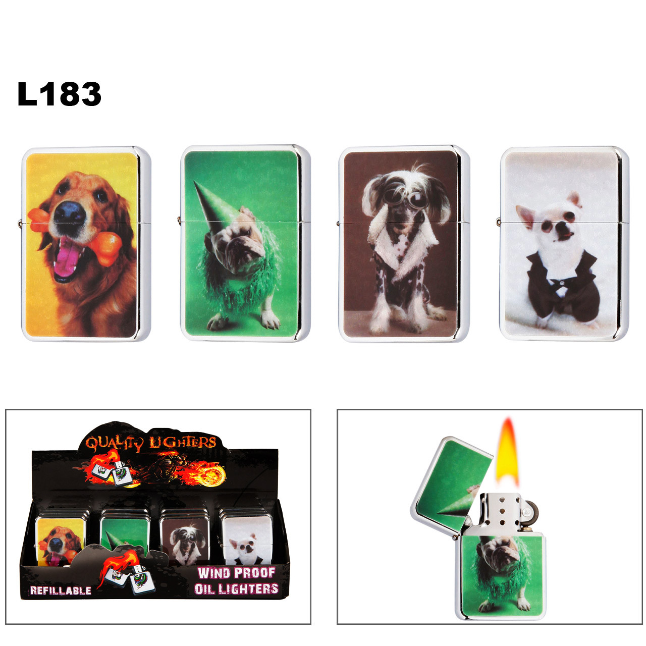 Wholesale Lighters ~ Assorted Dog Poses L183
