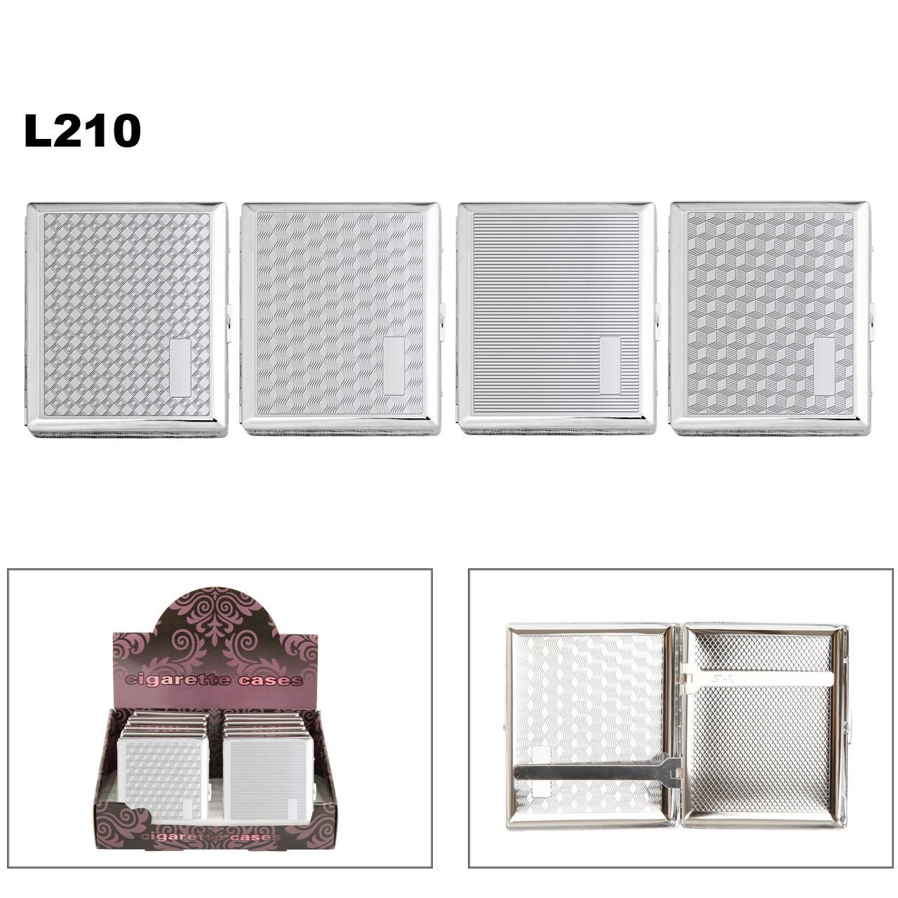 Patterned Chrome Cigarette Cases L210