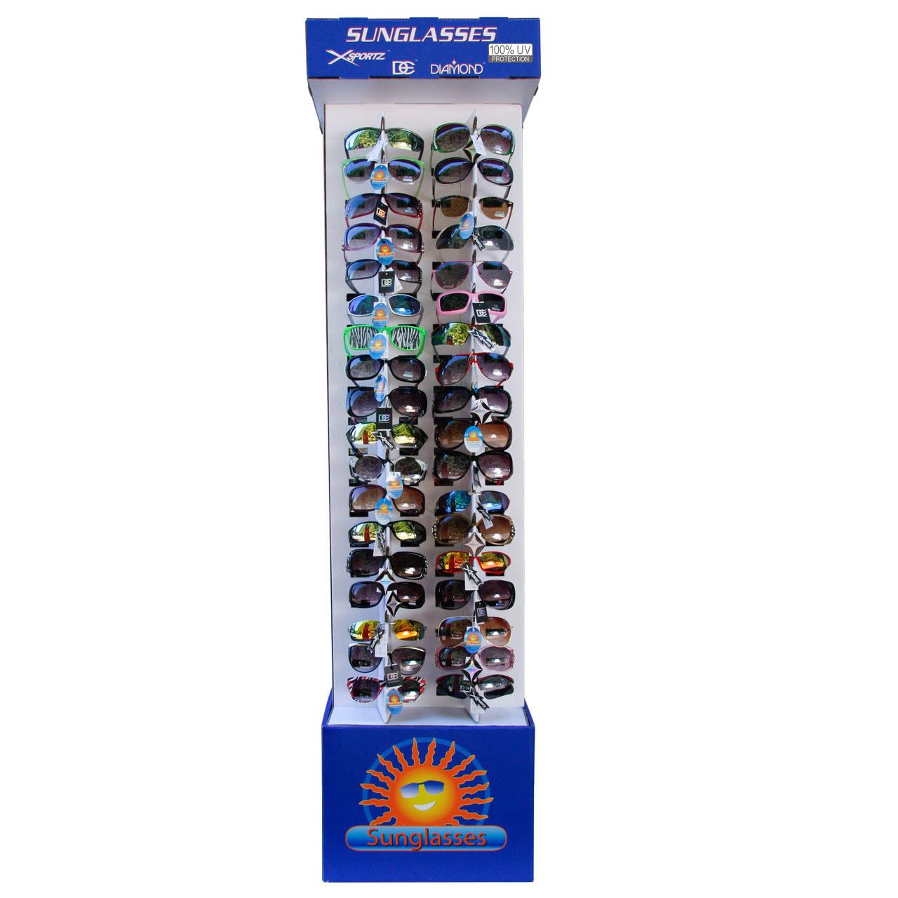 Cardboard Sunglass Display 7002 Holds 72 Pair