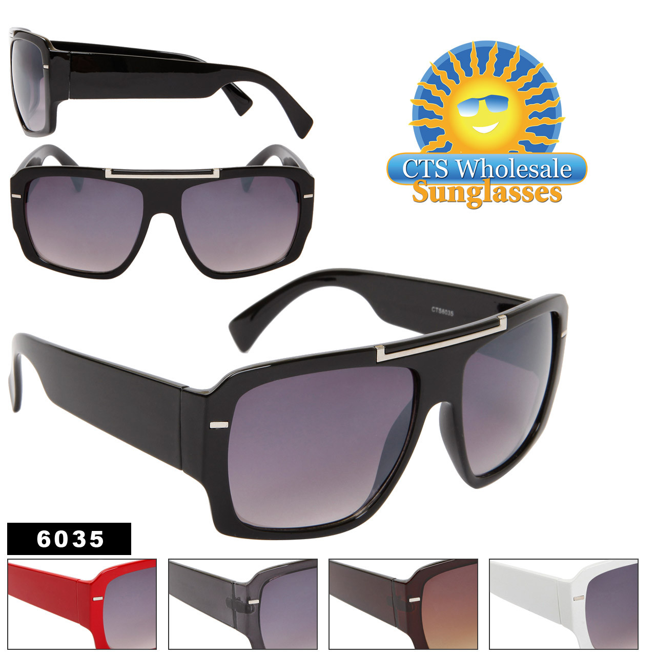 Square Aviator Sunglasses 6035