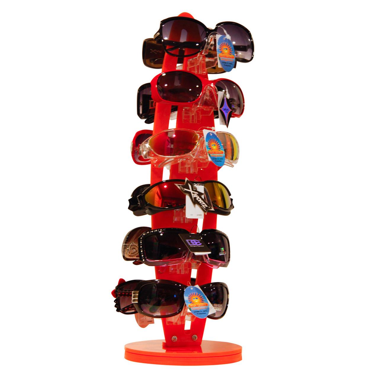 7036 Orange Rotating Sunglasses Display