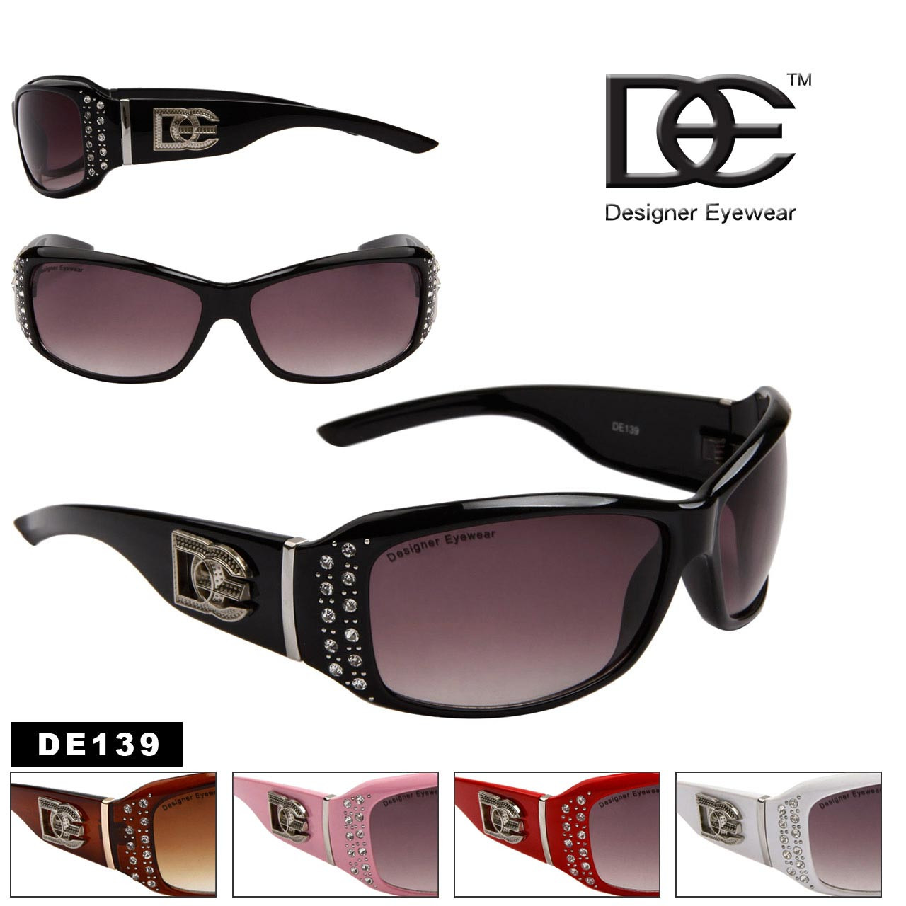 Designer Eyewear DE™139 Rhinestone Sunglasses