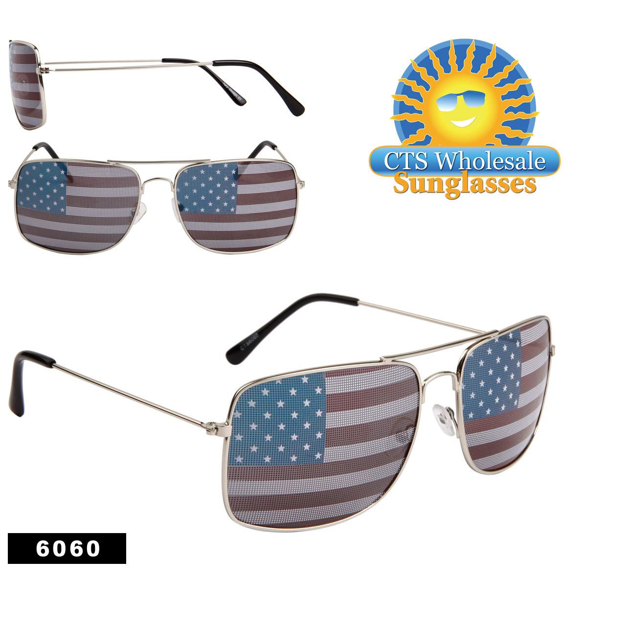 Square American Flag Aviators! 6060