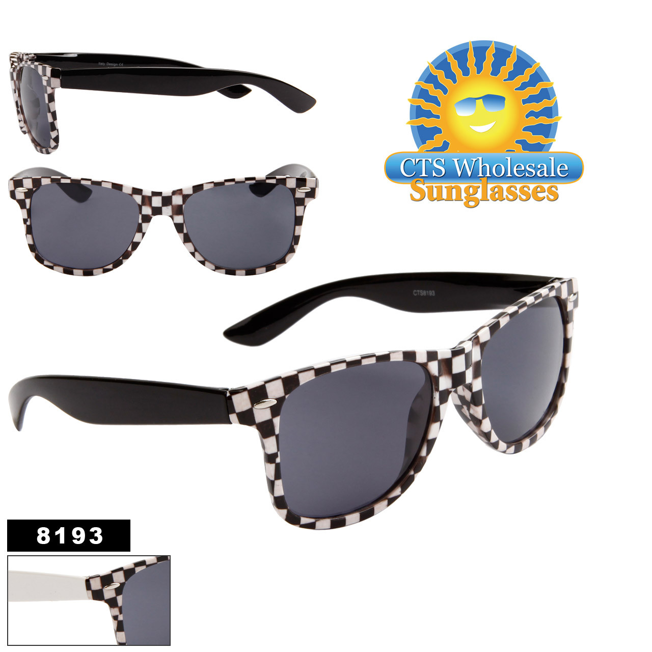 Checkered California Classics Sunglasses Wholesale - Style # 8193