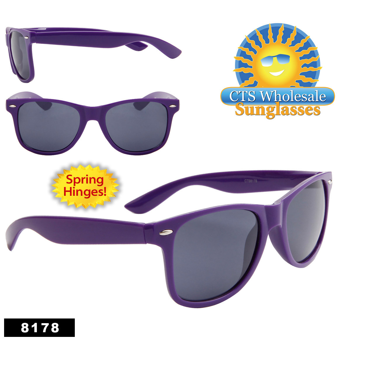 Wholesale Purple California Classics Sunglasses - Style # 8178