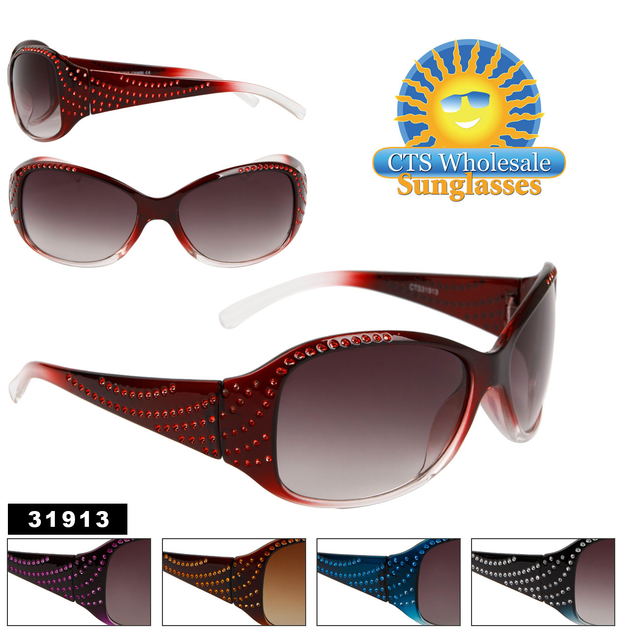 Women's Wholesale Fashion Sunglasses - Style # 31913