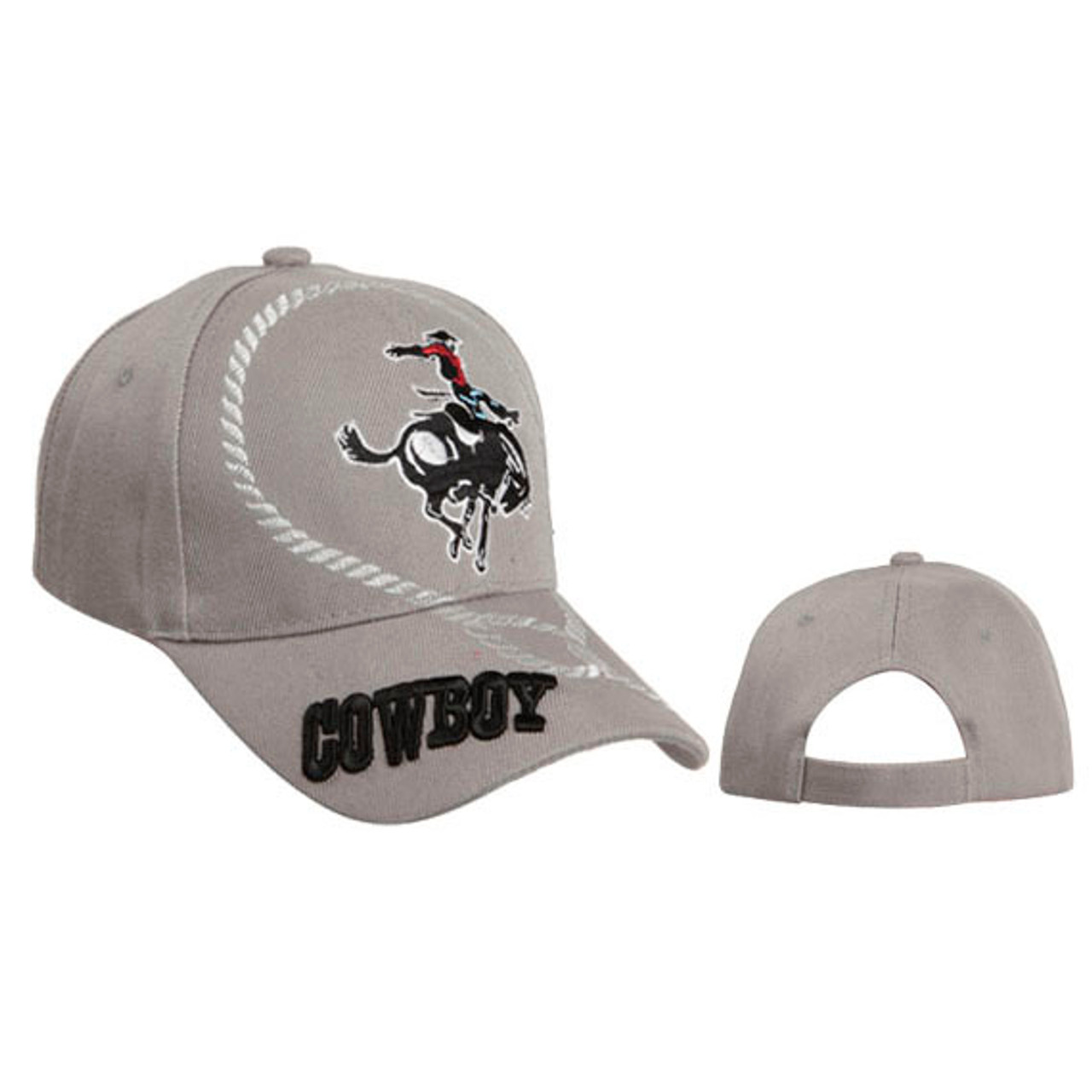 Grey Wholesale Cowboy Baseball Cap