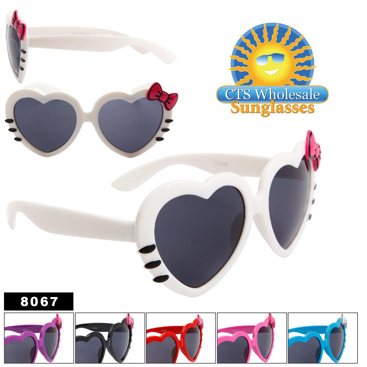 Wholesale Heart Sunglasses - Style # 8067