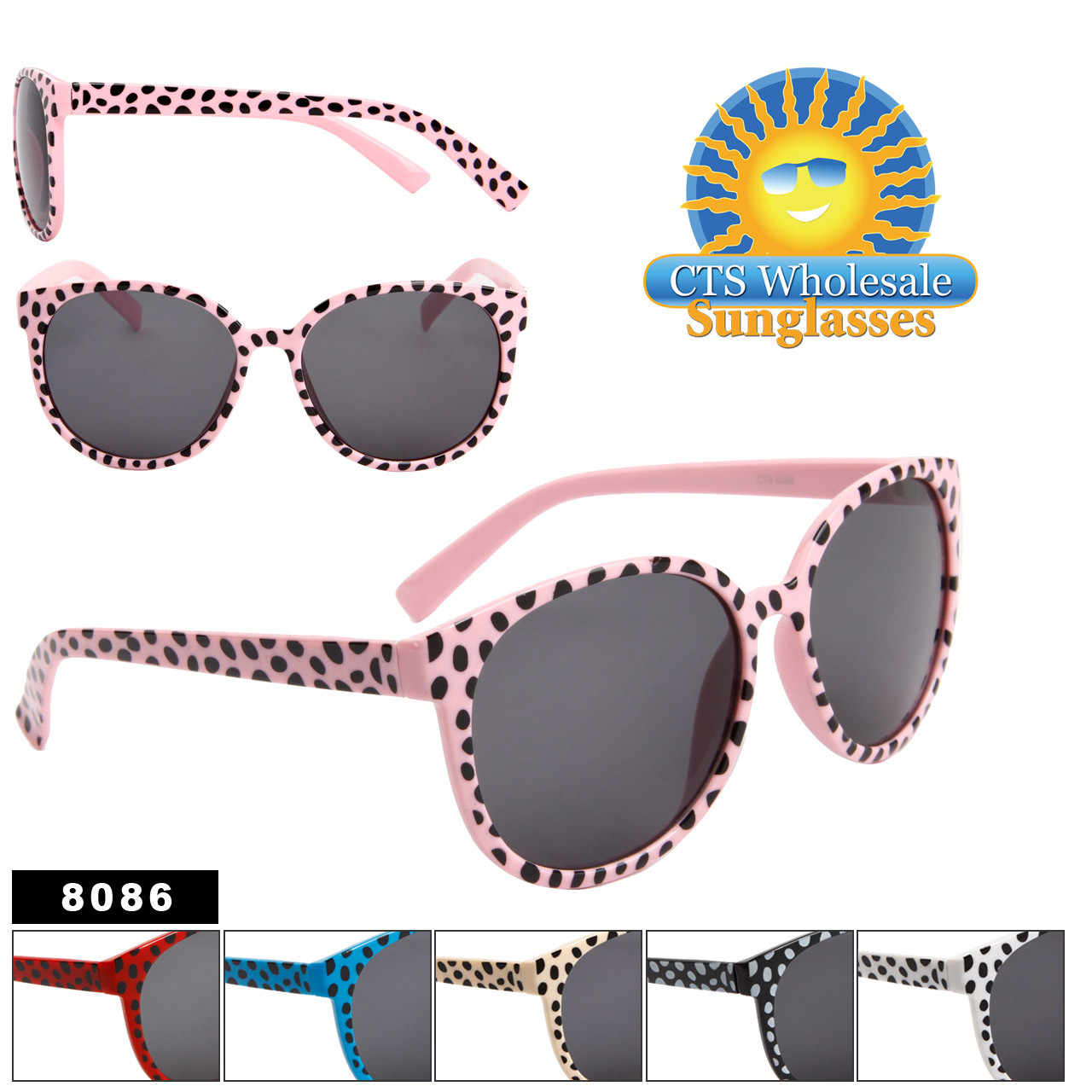 Wholesale Animal Print Sunglasses - Style # 8086