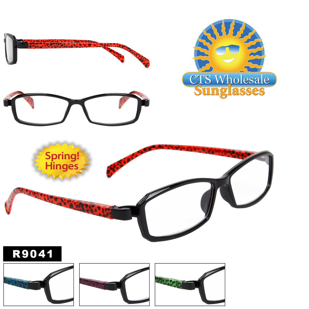 Reading Glasses Wholesale R9041 Spring Hinges