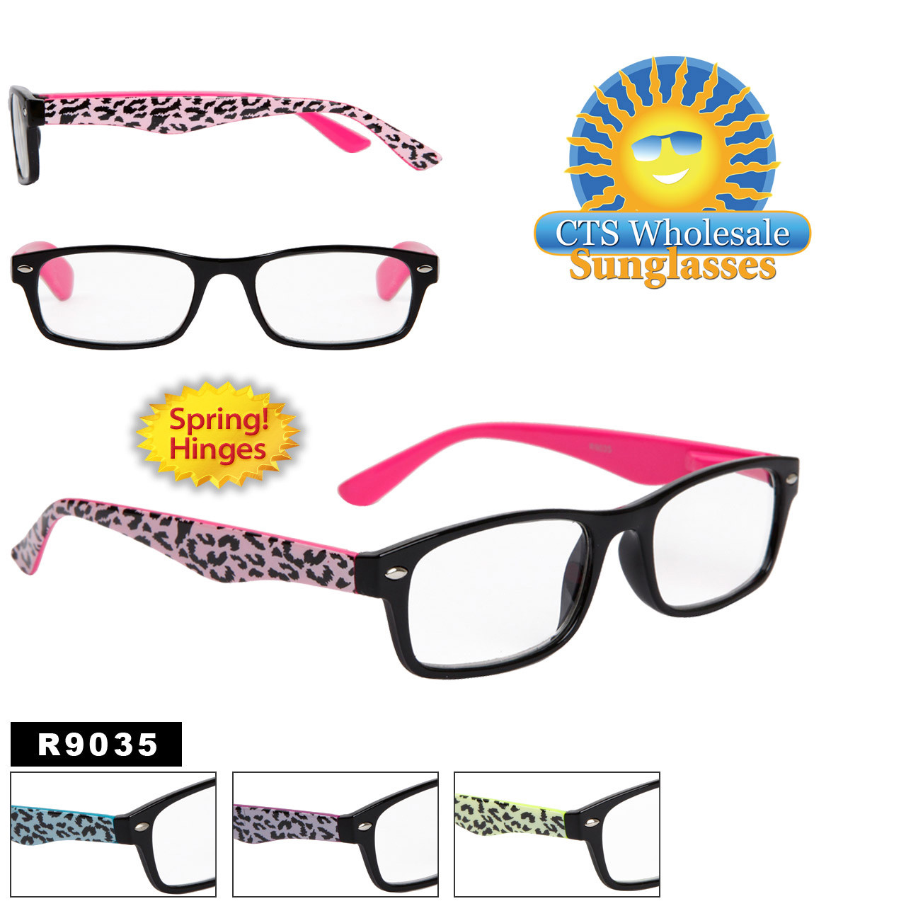 Leopard Print Reading Glasses R9035