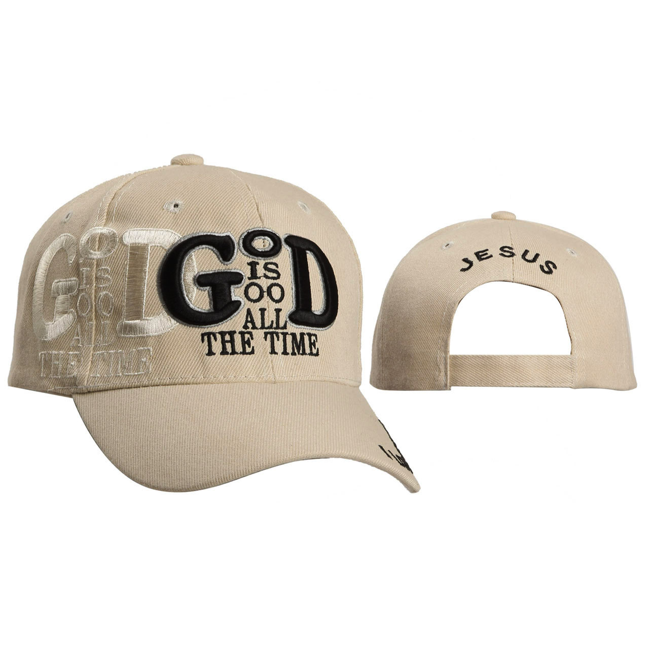Wholesale Baseball Cap ~ God is Good All the Time ~ Beige