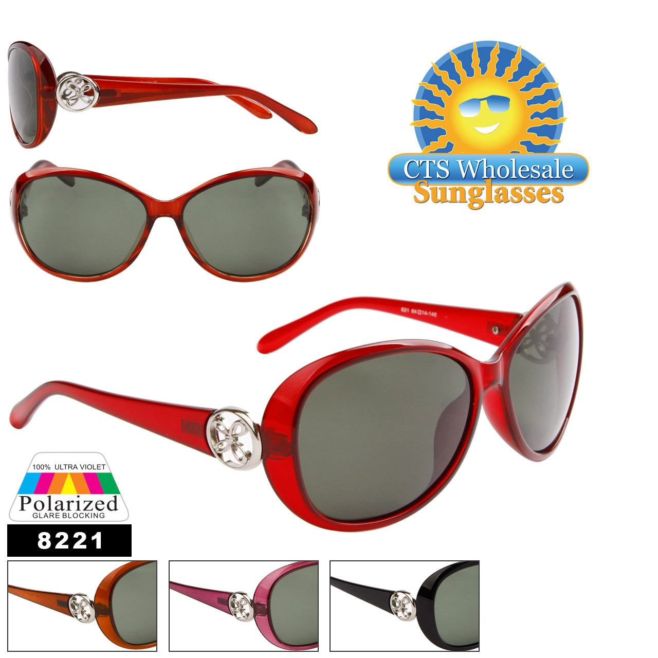 Women's Polarized Wholesale Sunglasses 8221