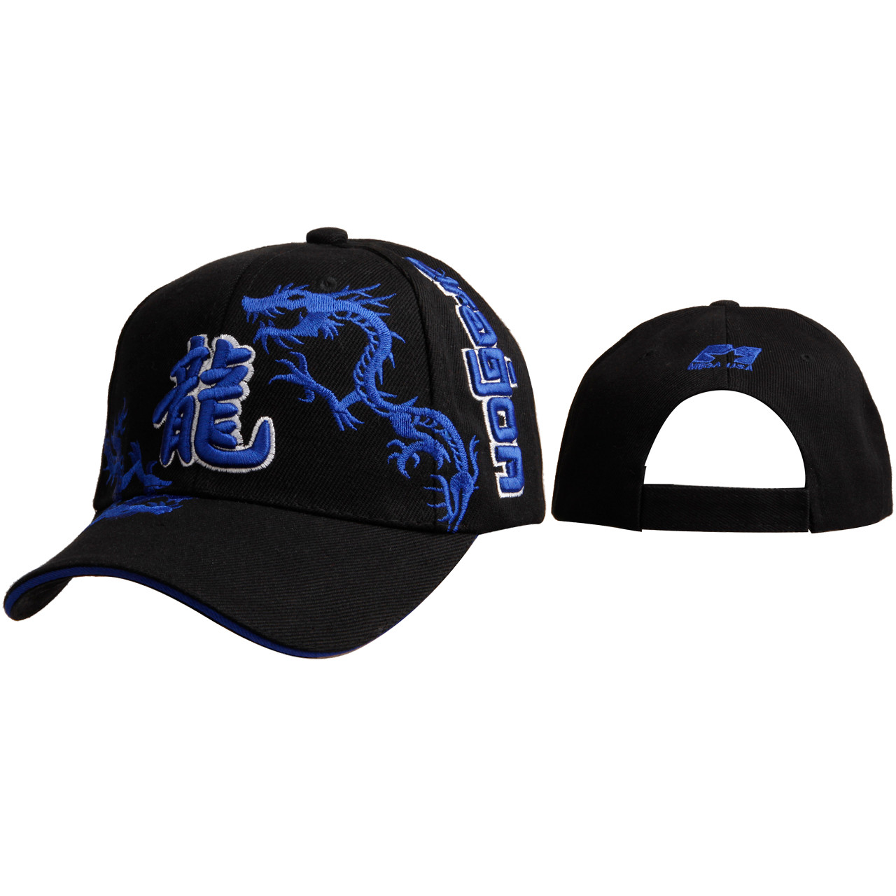 Chinese Dragon Wholesale Baseball Cap C6007 Blue