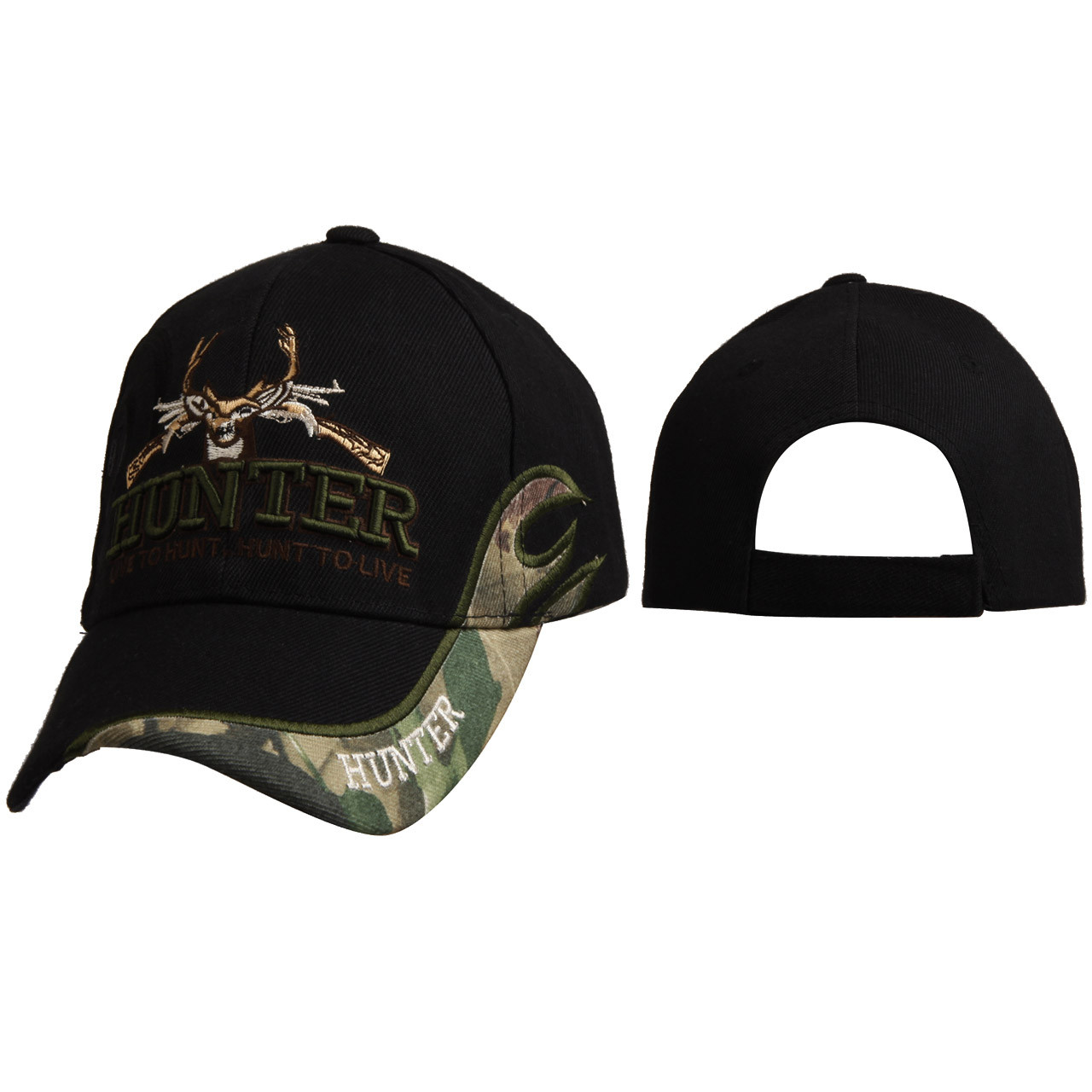 "Wholesale Hunting Cap C6013 ""HUNTER Live to Hunt. Hunt to Live"""
