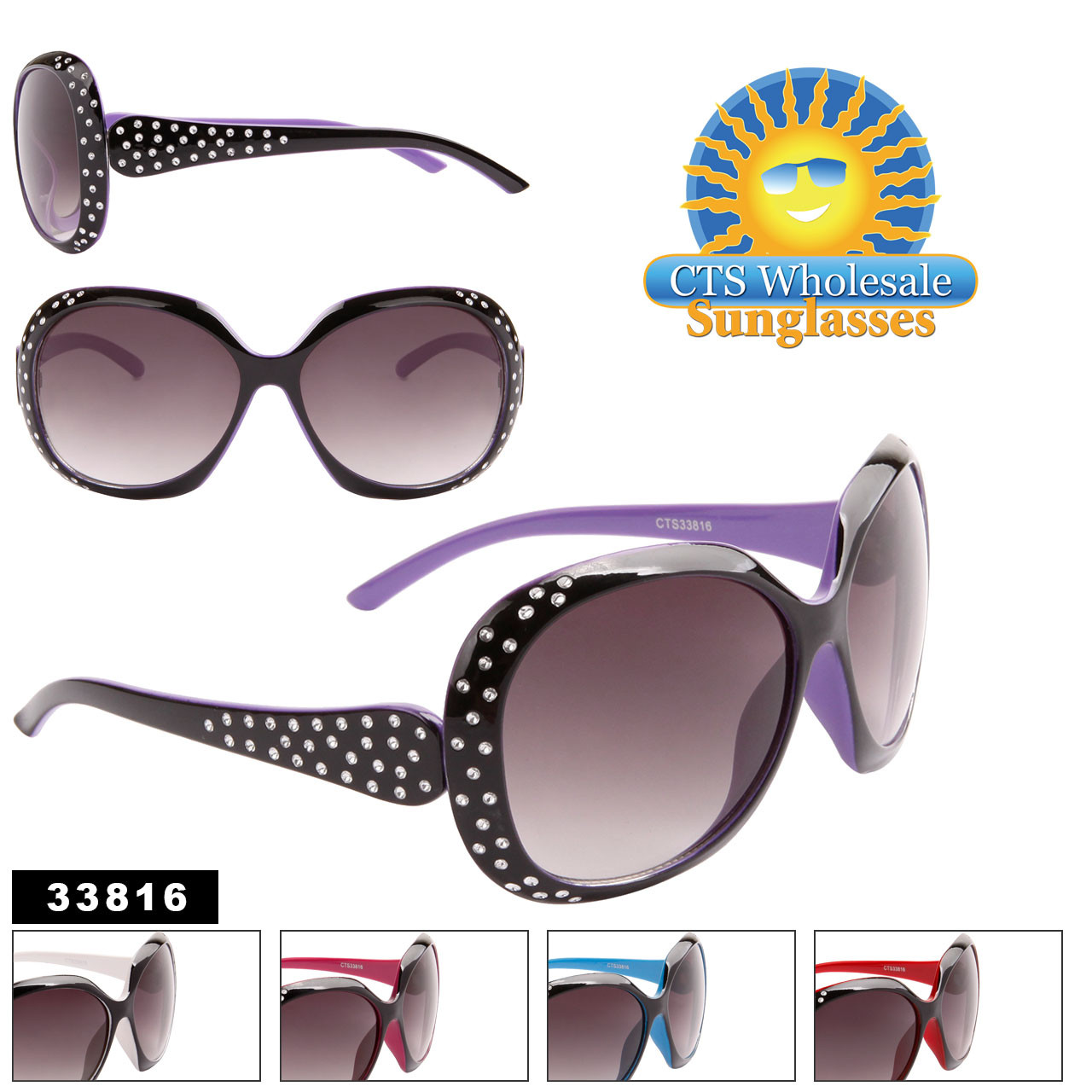 Bulk Women's Fashion Sunglasses - Style #33816