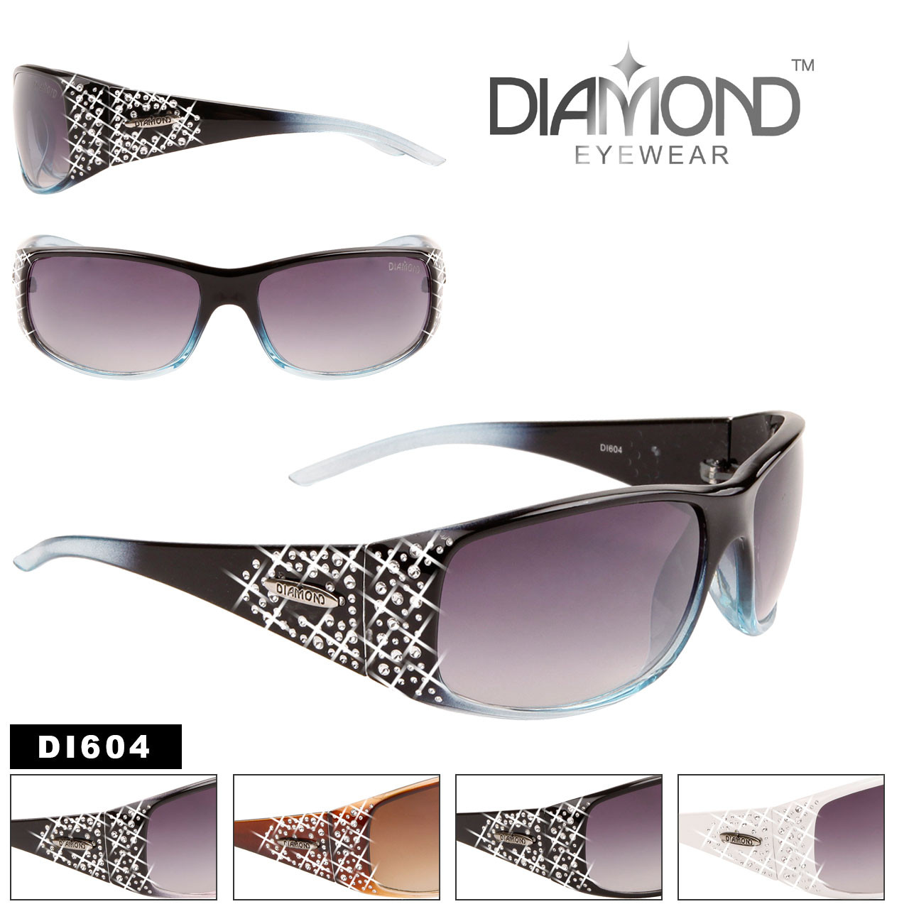 Diamond™ Eyewear Wholesale Designer Sunglasses - Style #DI604