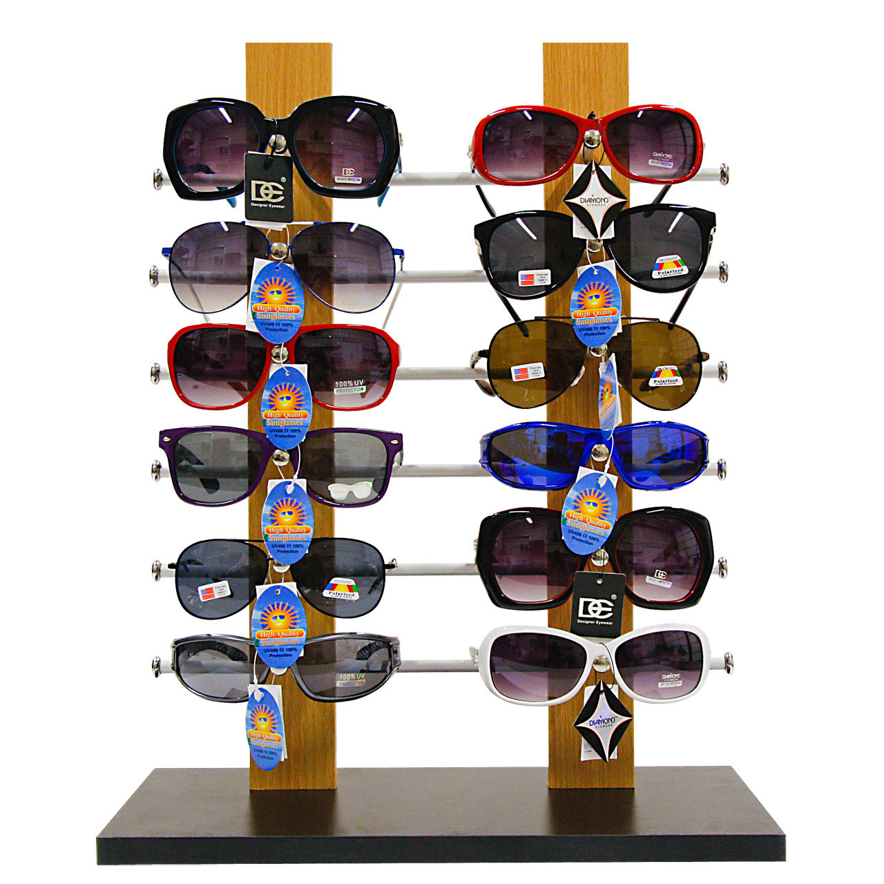 Counter Top Sunglass Display Stand ~ Holds 12 Pairs 7077V
