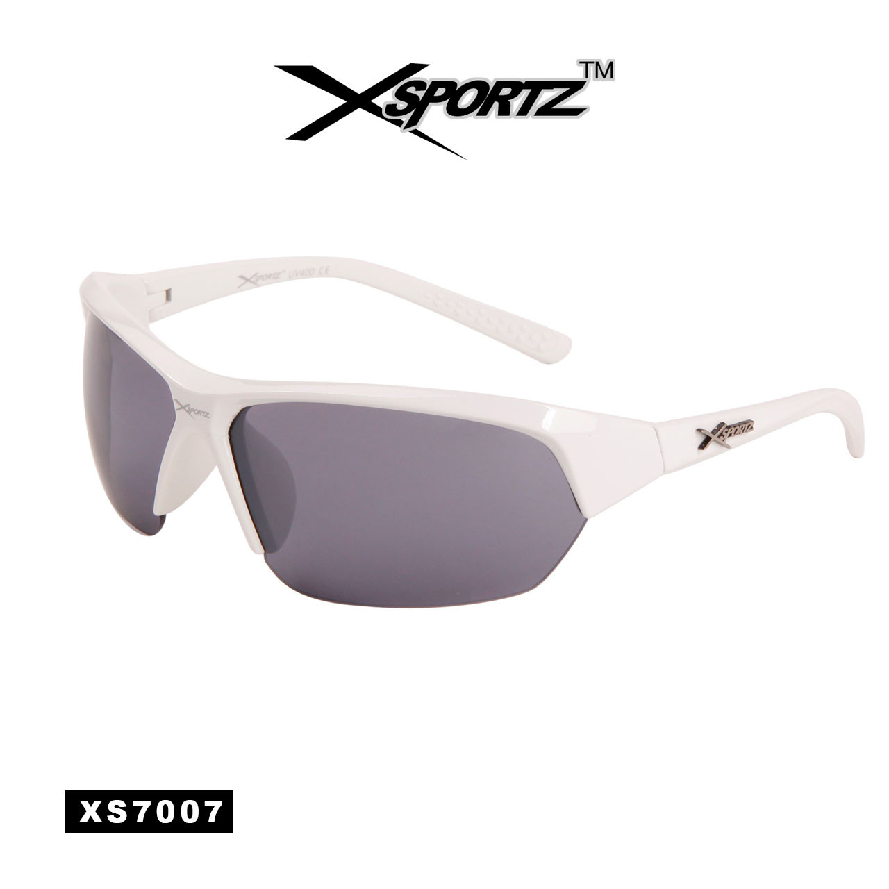 White Sport Wholesale Men's Sunglasses - Style #XS7007W