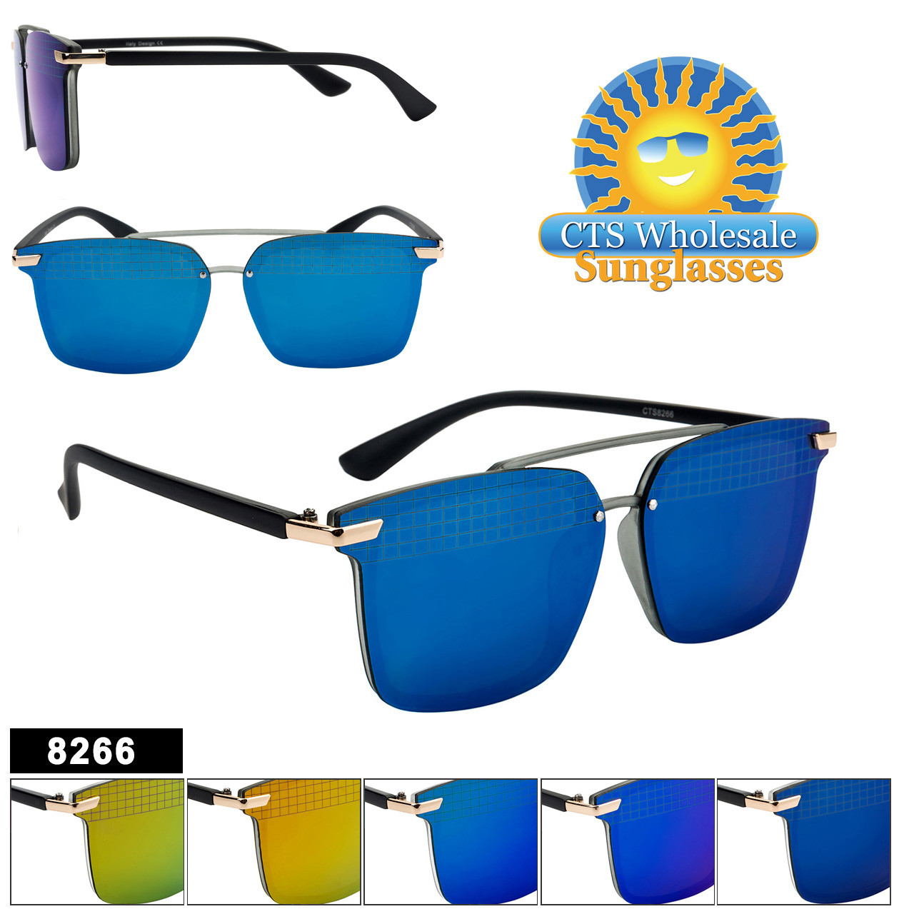 Mirrored Sunglasses - Style #8266