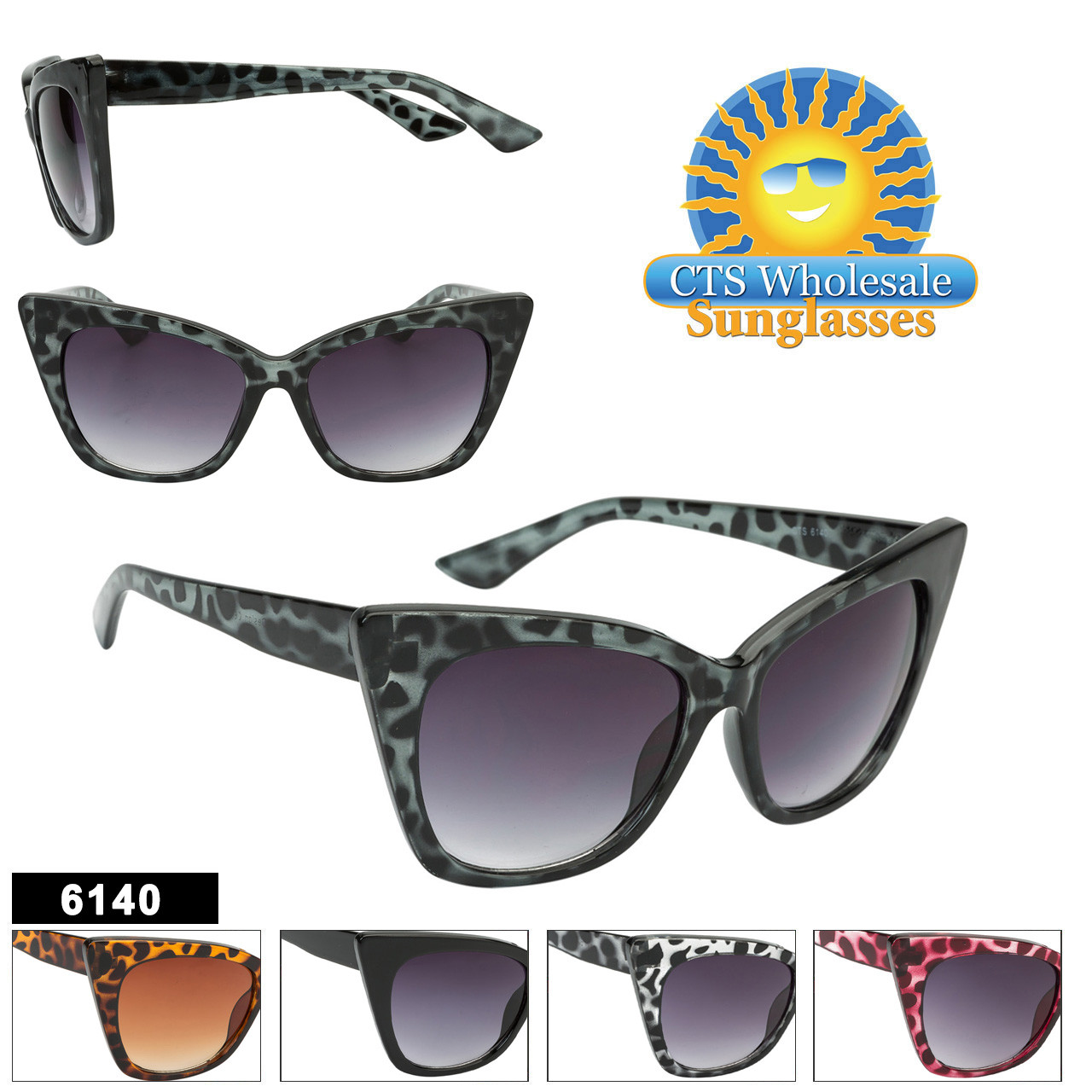 Retro Cat-Eye Wholesale Sunglasses - Style #6140