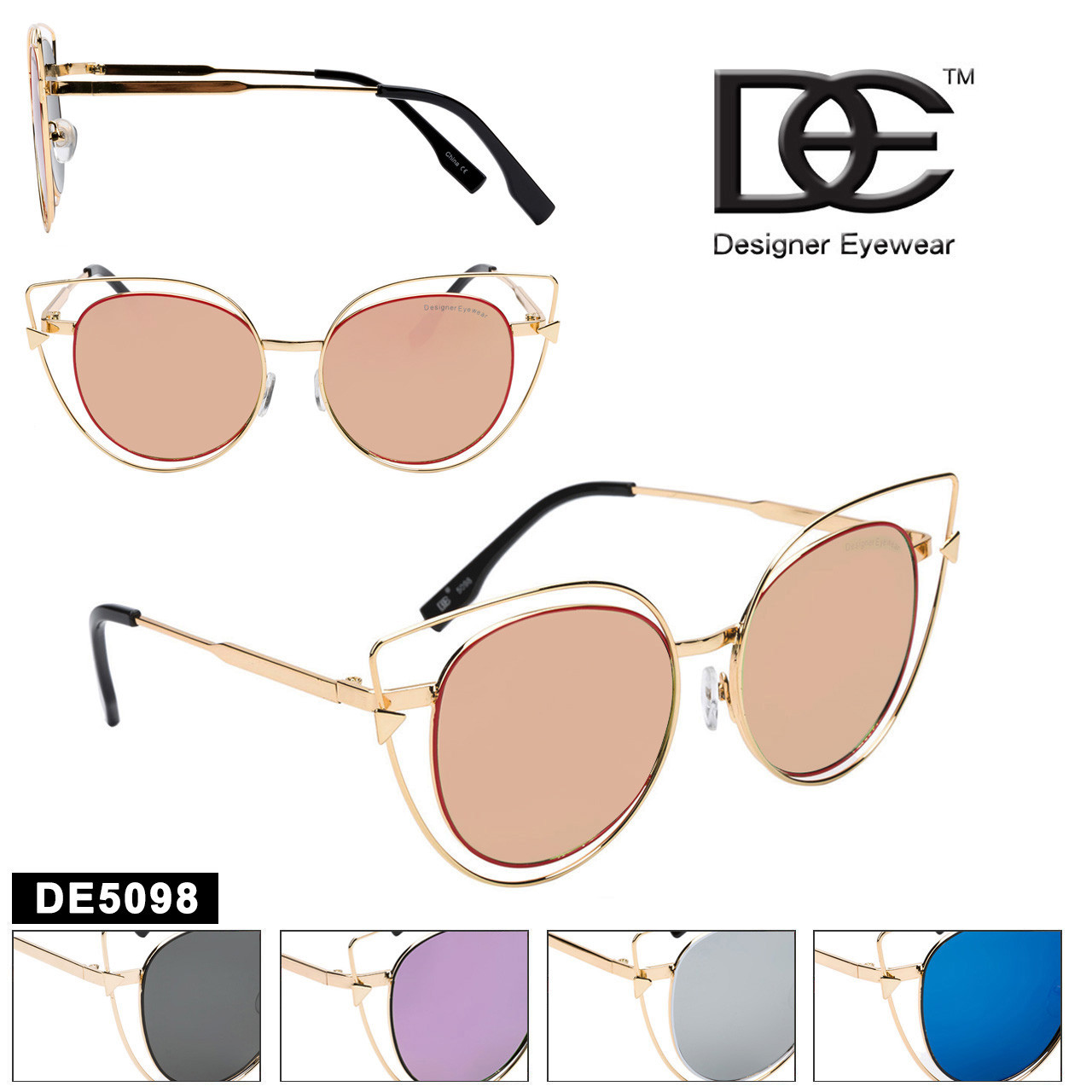 Cat Eye Sunglasses by DE™ Designer Eyewear - Style #DE5098
