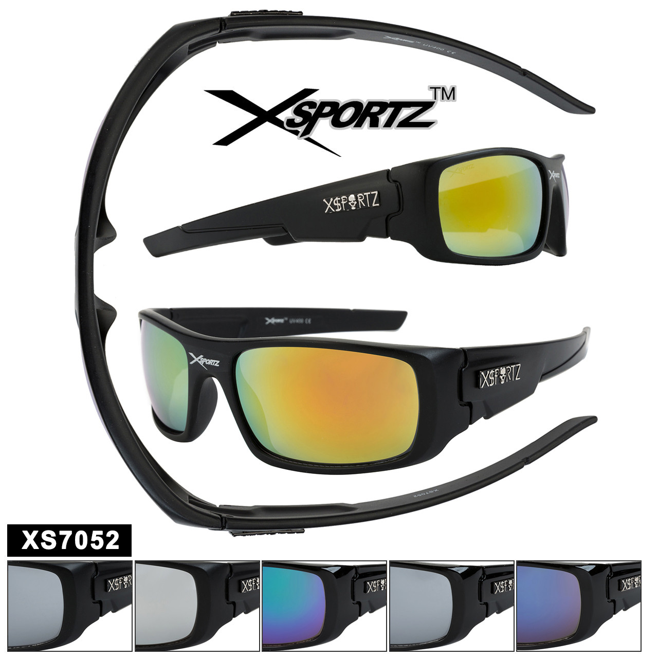 Sports Sunglasses in Bulk - Style XS7052