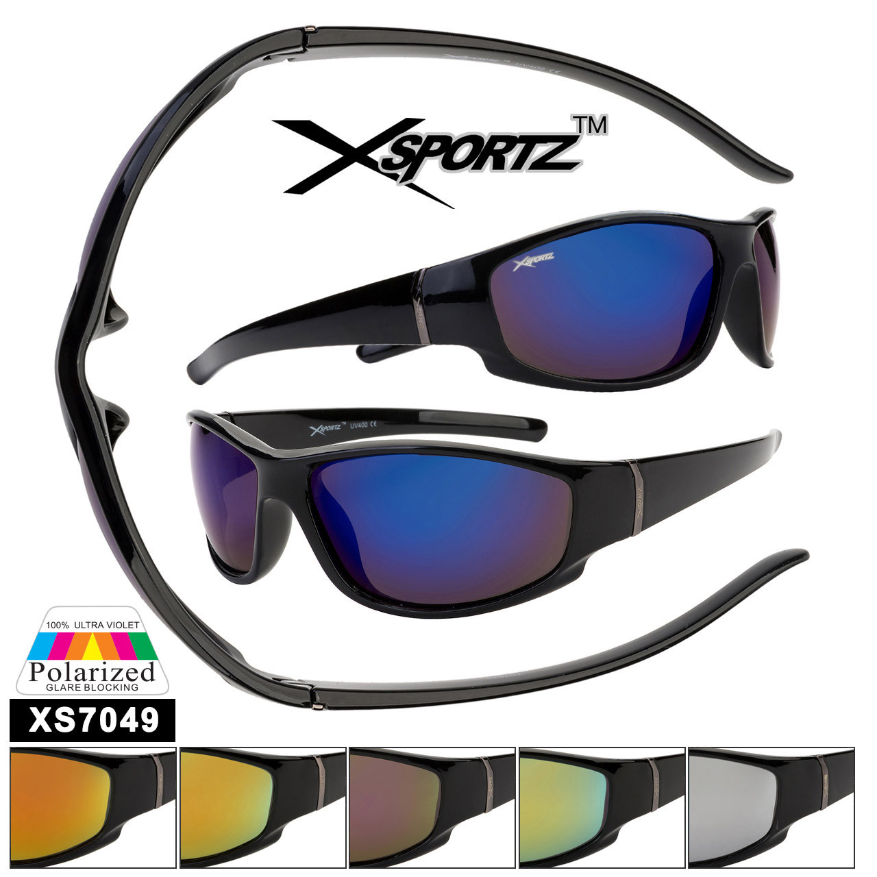 Polarized Xsportz™ Wholesale Sunglasses  - Style XS7049