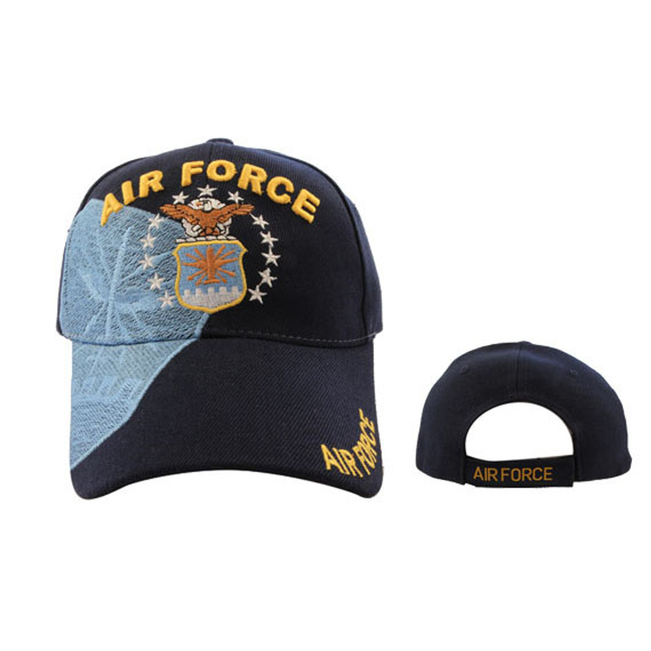 Air Force Baseball Cap Wholesale-Black