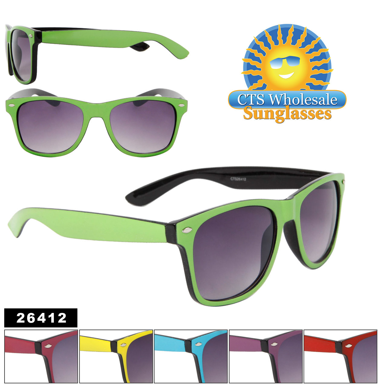 New Two Tone California Classics Sunglasses Item # 26412