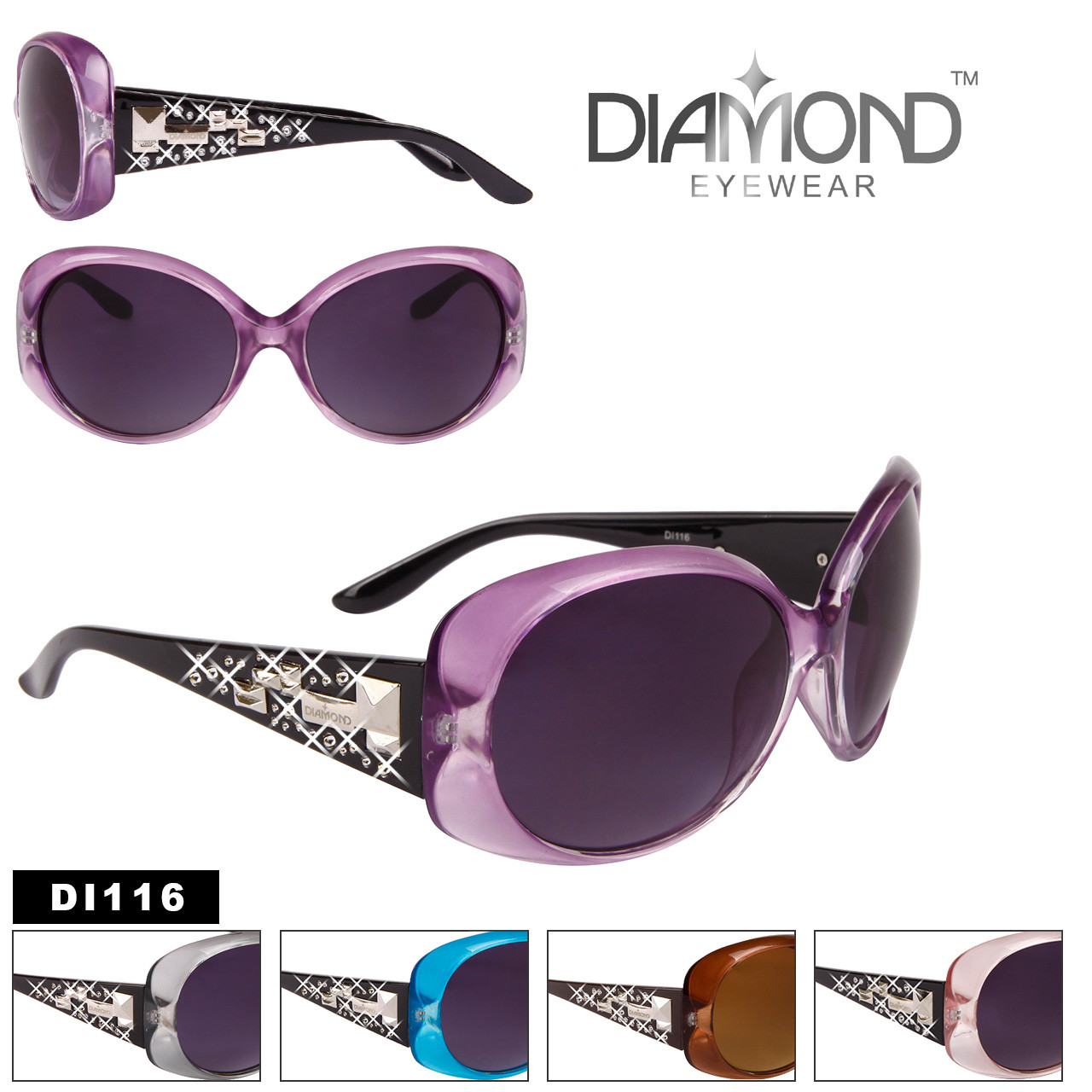 Wholesale Rhinestone Diamond™ Eyewear - Style #DI116