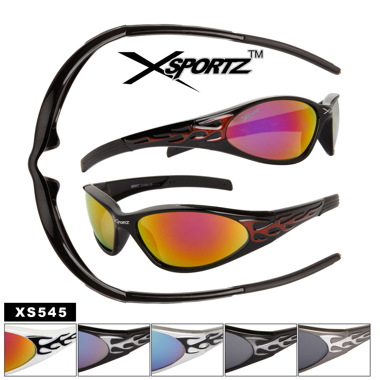 Xsportz™ Men's Sports Sunglasses - Style # XS545