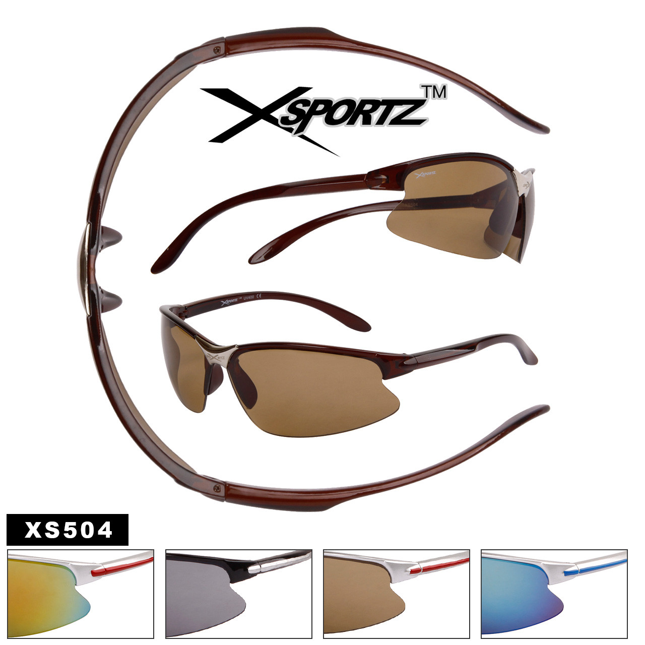 Wholesale Xsportz™ Men's Sport Sunglasses - Style #XS504