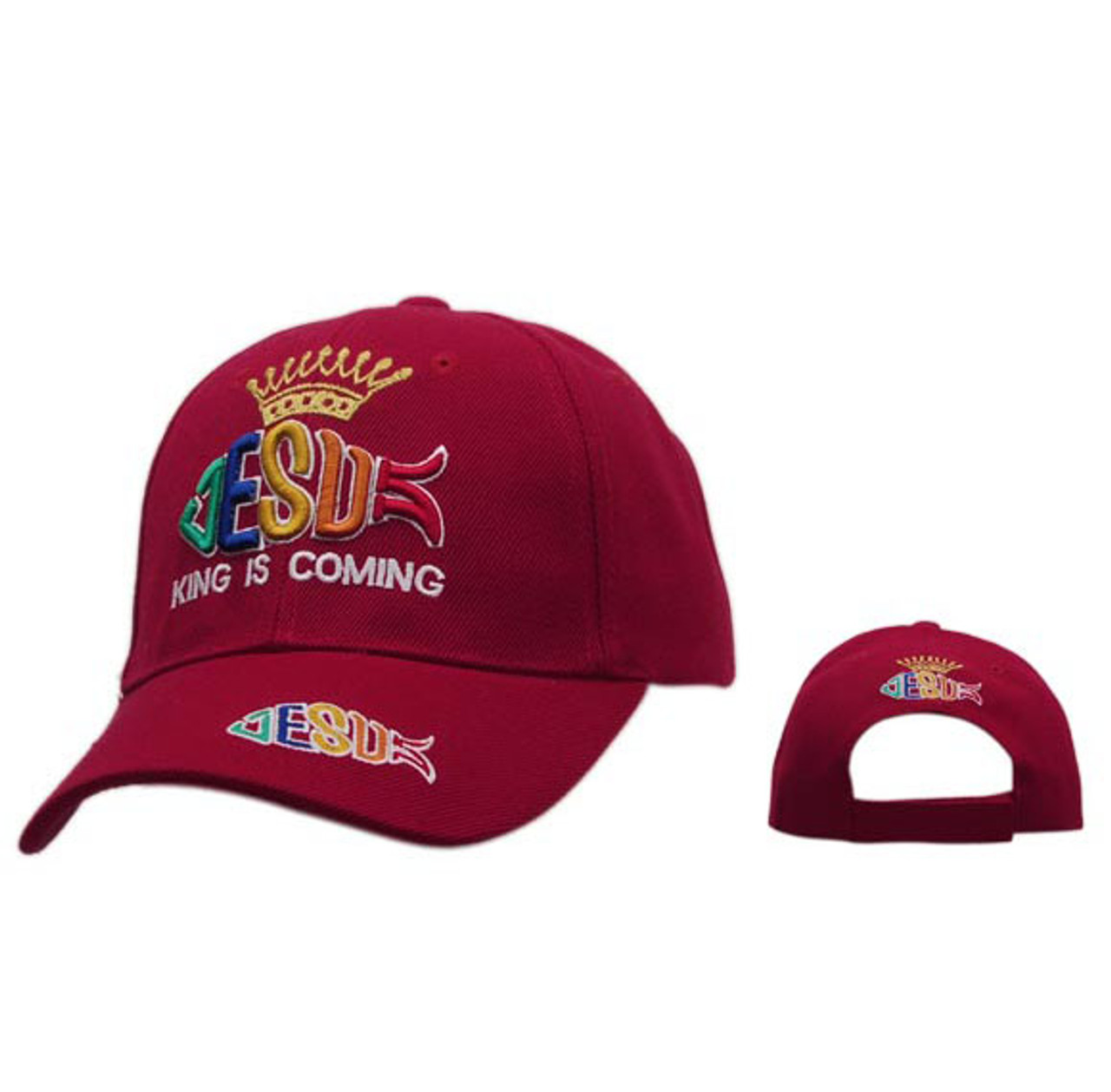 Red Jesus Is King Baseball Cap