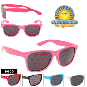 California Classics Sunglasses 9003 Hearts! (Assorted Colors) (12 pcs.)