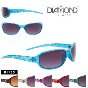 Rhinestone Sunglasses by the Dozen - Style #DI133 (Assorted Colors) (12 pcs.)