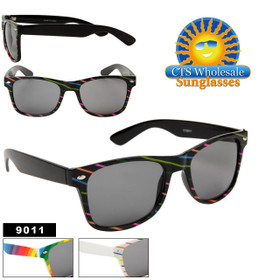 California Classics Wholesale Sunglasses ~ Rainbow ~ 9011 (Assorted Colors) (12 pcs.)