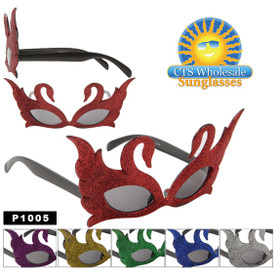 "Party Glasses ""Swans""  ~ P1005 (12 pcs.) (Assorted Colors)"