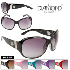 Diamond Eyewear DI515 Rhinestone Centered Daisy Decoration (Assorted Colors) (12 pcs.)