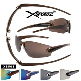 Xsportz Sunglasses XS503 Men's Sunglasses Wholesale (Assorted Colors) (12 pcs.)