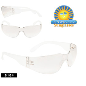Safety Glasses ~ Clear Lens ~ S104 (12 pcs.) Protective Eyewear
