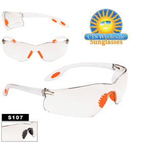 Wholesale Clear Safety Glasses ~ S107 (12 pcs.)
