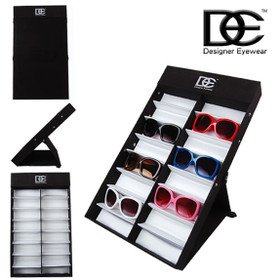 Folding DE Designer Eyewear Sunglass Display ~ 7063 (1 pc.) Holds 16 Pair of Sunglasses