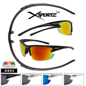 Wholesale Polarized Fishing Sunglasses - Style #XS53 (Assorted Colors) (12 pcs.)