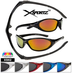 Wholesale Polarized Xsportz™ Sunglasses -  Style #XS62 (Assorted Colors) (12 pcs.)